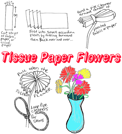 Making Tissue Paper Flowers This Is An Easy Craft