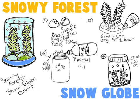 Snowy Forest Snow Globes