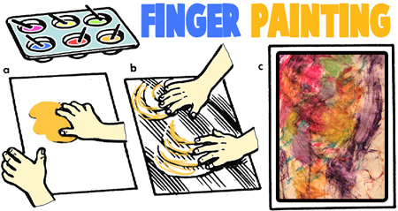 How to Make Finger Paintings