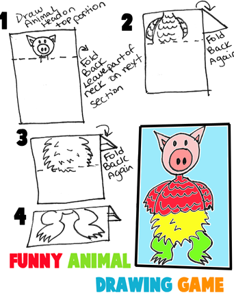 Make Silly Animal Combinations with This Drawing Game