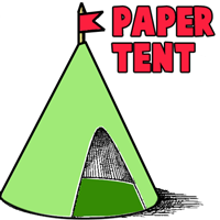 How to Make a Paper Tent Structure
