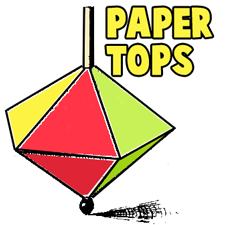 How to Make Spinning Paper Tops