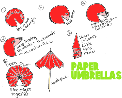 Paper Folding For Kids Fold Paper Umbrellas