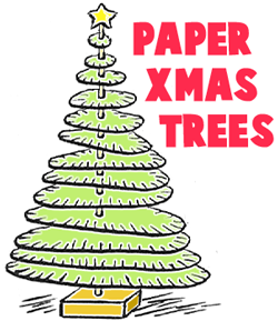 how to make paper christmas trees - Easy Christmas Tree