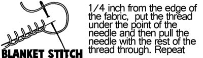 Blanket Stitch Instructions