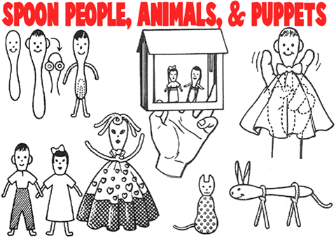 Make Spoon Animal People and Puppets
