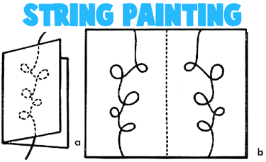 String Painting Cards