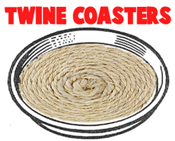 Making Twine Coasters with Lids
