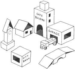 Make a City or Town from Cardboard Boxes