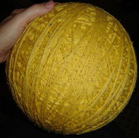 Make a Yarn Ball for Quiet Indoors Play