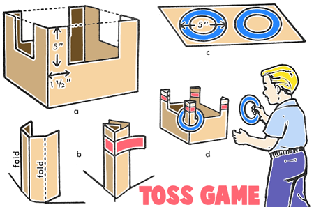 How to Make Cardboard Box Toss Games