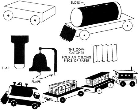 Cardboard Train Craft Trains Crafts You Can Make