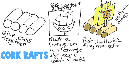 Make Cork Rafts Easily