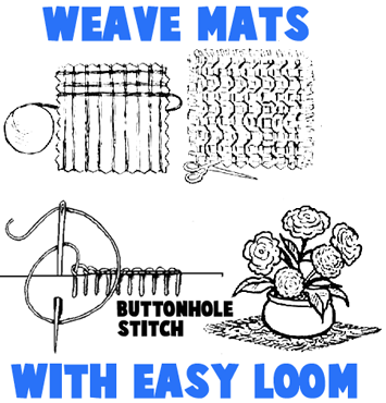 How to Make a Loom and Weave a Mat