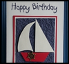 Sailboat   Birthday Card for Men