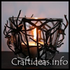 Spooky   Spiders Tea Light Glass