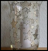 Silver   Stars Christmas Glass Decoration for Candles