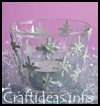 Snowflake   Tea Light Candle Glass