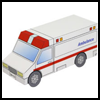Ambulance Emergency Vehicles Craft for Kids