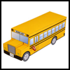 School   Bus Making Arts & Crafts Activity