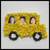 Tissue   Paper School Bus Frame Craft