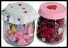 Valentine   candy container