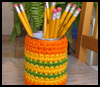 A   Crocheted Pencil Can: A Great Project For Beginners!