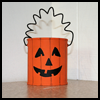 Make   a Pumpkin Craft Using Juice Cans