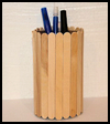 Craft   Stick Vase or Pencil Holder Activity for Children