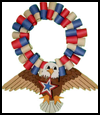 Bald    Eagle Fourth of July Wreath for Children to Make