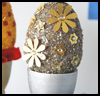Silver   and Golden Easter Egg