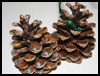 Glittery   Pinecone Decorations