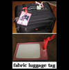 Fabric   Luggage Tag Grommets Craft Activity