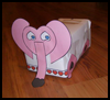 Adorable   Elephant Valentine Mailbox Kids Craft