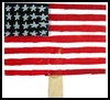American   Flag Fan Memorial Day Project for Children