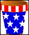 Patriotic   US Plant Pot Craft