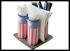 Firecracker   Napkin and Utensil Holder