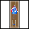Bird   House Wind Chimes with Metal Key Rings