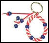 <strong>Red,   White & Blue</strong> <strong>Key     Ring</strong>