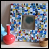 <B>How   to Make a Mosaic Picture Frame from Old Gift Cards</B>