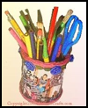 How   to Make a Recycled Photo Pencil Holder for Mother's Day