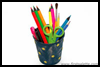 Starry Pencil Holder Craft for Kids to Make