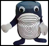 Plastic   Canister Poliwhirl Figure