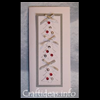 Embossed   and Jeweled Christmas Trees Christmas Card