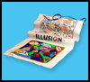 Geometric   Illusion Banners 3-D Illusions Craft for Kids