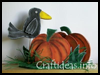 Wooden   Crow and Pumpkin