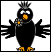 Handprint   Crow or Raven Craft for Preschoolers and Toddlers