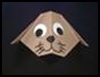 Craft   a cute origami dog with your kids