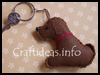 Felt   Dog Key Ring Charm