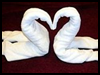 How   To Fold  Towel Swans